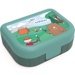 Snackbox 1 l MEMORY KIDS, Motiv:Explorer Jungle