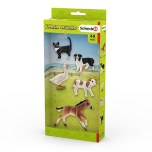 Schleich - Tierfiguren, Farm Word Tier-Mix; 42386