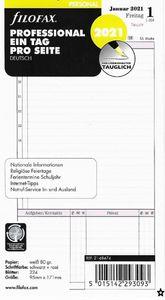 Filofax Kalendereinlage Personal 95 x 171 mm: Professional Eine Tag pro Seite 2021 deutsch