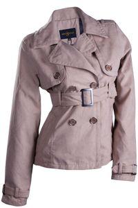 Catwalk Damen Jacke Übergangsjacke WildKunstleder Farbe:Beige, Größe:M