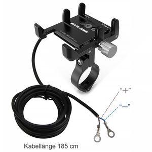 GUB Universal Fahrrad/Motorrad Lenker Halterung für Handy, Smartphone, Navi usw. mit USB-Anschluss