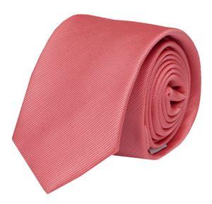 Schlips Krawatte Krawatten Binder 6cm rosa lachs strukturiert uni Fabio Farini
