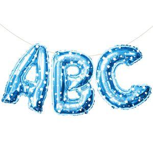 Oblique Unique ABC Folienballon Girlande Schuleinführung Einschulung Schulanfang Feier Deko blau