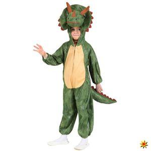 Kinderkostüm Dinosaurier, Overall Triceratop, Größe:116/128