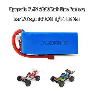 Upgrade 7.4V 3000Mah 2S Lipo Batterieteil für WLtoys 144001 1/14 4WD RC Car