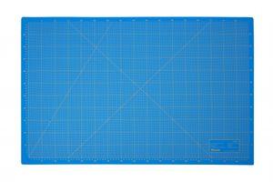Schneidematte 3-lagig und selbstheilend blau 60x90cm A1