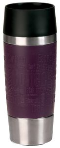 Emsa Travel Mug Isolierbecher, Edelstahl, Manschette, Brombeer, 0,36 L, 513359