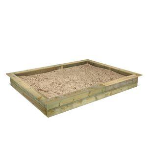 FATMOOSE PowerPit Sandkasten mit Sitzrand 195 x 250 cm