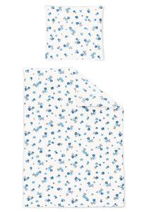 Irisette Soft Jersey Luna Bettwäsche 2 teilig Bettbezug 135 x 200 cm Kopfkissenbezug 80 x 80 cm Luna 392377-20 Bleu