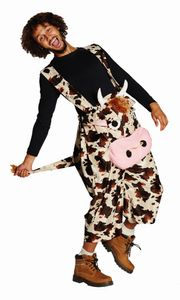 Kuh Latzhose Hose Kuhhose Karneval Fasching Kostüm M