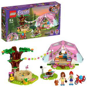 LEGO 41392 Friends Camping in Heartlake City, Abenteuer Spielset mit Olivia & Mia Minipuppen und Zelt