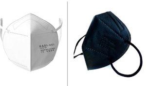DE+Fachhändler+CE+Blitzversand+Bundle schwarz & weiß 10 Stück 5-lagige Atemschutzmasken FFP2 Mundschutz, Schutzmaske, Einwegmasken Bestseller von Eqohome®