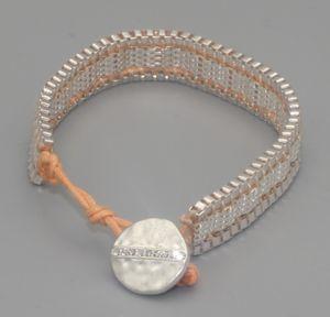 Pilgrim Damen-Armband Versilbert mattiert 19 cm