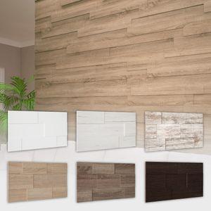 HEXIM Wandverkleidung - Stilvolle 3D Paneele mit 7 Verlegevarianten, Holzpaneele aus MDF - STELLA Nachbildungpaneel Holzwand, MDF 3D Paneele Menge:2 Packungen - 2.26 qm, MDF 3D Paneele Farbe:Eiche Sonoma