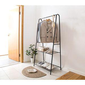 Garderobenständer mit Schuhregal aus Metall Kleiderständer Kleiderstange Wäscheständer 59,5x36,5x160cm