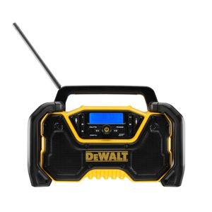 DeWALT Akku- und Netz Kompakt-Radio DCR029 - Baustellenradio - Werkstattradio - mit 2 Meter Netzkabel