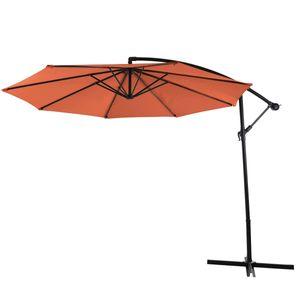 SVITA Sonnenschirm 3m Ampelschirm mit Sonnenschutz UV50+ Matt Orange