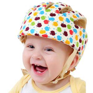 Baby Helm Kleinkind Schutzhut Kopfschutz Baumwolle Hut Verstellbarer Schutzhelm Apple Flower