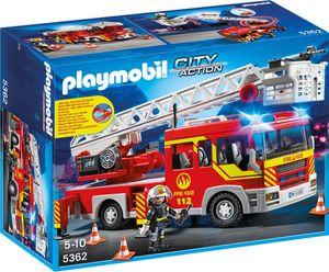 Playmobil 5362 City Action - Feuerwehr-Leiterfahrzeug mit Licht und Sound