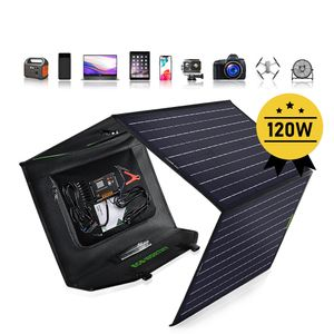 120W faltbares Solarpanel-Monoladegerät für Generator / USB-Handy-Laptop