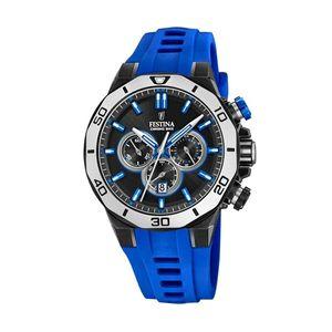 Festina Uhr für Herren F20450/5 Chrono Bike Kautschuk blau