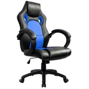 Gaming Stuhl Bürostuhl Computer Schreibtisch Sportsitz Gaming schreibtischstuhl Chefsessel - Blau - IntimaTe WM Heart