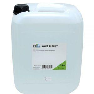 Medicalcorner24 Bidestilliertes Wasser AQUA BIDEST, Laborwasser, Reinst-Wasser, 5 Liter