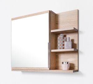 Badezimmer Spiegelschrank mit Ablagen, Badezimmerspiegel, Eiche Sonoma Spiegelschrank, R