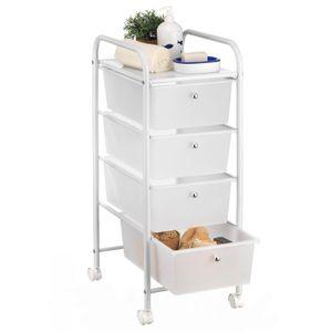 Rollcontainer GINA mit 4 Schubladen in weiß