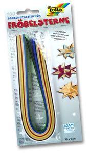 folia Faltpapierstreifen für Fröbelsterne Weihnachtsfarben 350 x 10 mm 100 Stück
