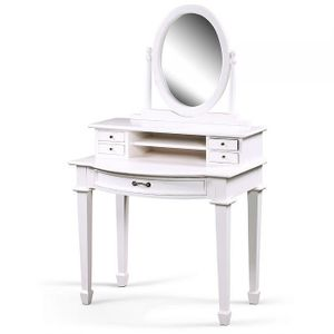 Schminktisch WHITE mit Spiegelaufsatz Shabby Chic