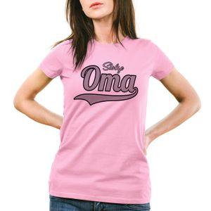 style3 Stolze Oma Damen T-Shirt Großmutter Fun Funshirt Spruch Spruchshirt, Farbe:Pink, Größe:L