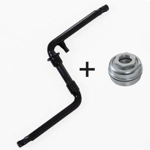 deTox BMX Fahrrad Kurbel 170 mm einteilig Fauber Fahrradkurbel Fahrrad 20 Zoll US-BB Lager, Farbe:schwarz, Ausführung:inklusive Tretlager