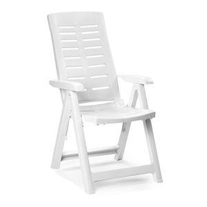 Klappstuhl Kunststoff Weiß 5-Positionen