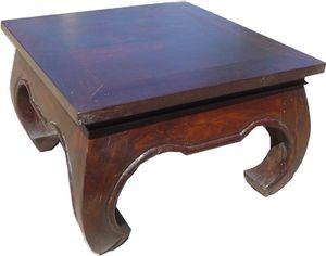Opiumtisch Bodentisch, Kaffeetisch aus Indien 100*100 cm, Braun, Holz, Kaffeetische & Bodentische