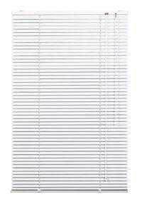 Lichtblick Jalousie Aluminium Weiß, 70 cm, 70 cm x 220 cm (B x L) AJ.070.220.01