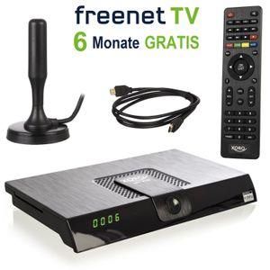 XORO HRT 8720 KIT - DVB-T2 HD, HEVC H.265, PVR Ready, Irdeto, freenet TV, Antenne & HDMI Kabel