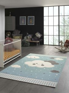 Teppich für Kinder mit Wolken in Blau Größe - 120x170 cm