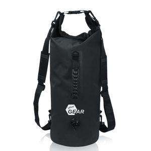 yourGEAR Dry Bag 20 L wasserdichter Rucksack Packsack Seesack Stausack mit Schultergurten, Tragegriff und Ventil
