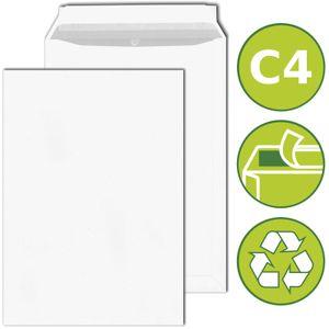 50 x Versandtaschen Briefumschläge DIN C4 haftklebend 229x324mm Weiß