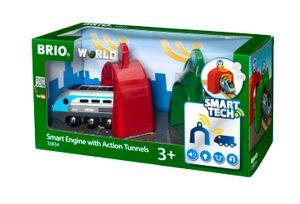 BRIO World - 33834 Smart Tech Zug mit Actiontunnels