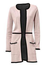Patrizia Dini Damen Designer-Longstrickjacke, rosé, Größe:40