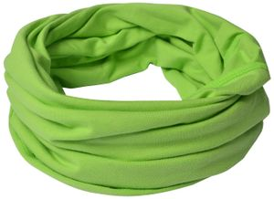 Kinder Baumwolle Schlauchschal Grün-M