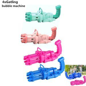 4 x Gatling bubble machine(rot,blau,pink,grün),Beste Geschenke im Sommer für Kinder