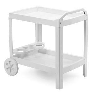 Servierwagen Teewagen Küchenwagen Kunststoff weiß