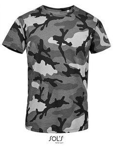 Mens Camo / Tarn Herren T-Shirt - Farbe: Grey Camo - Größe: XL