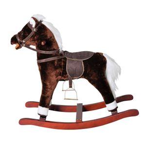 Knorrtoys Schaukelpferd Brauny mit Pferdegeräuschen