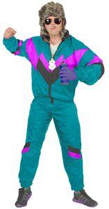 80er Jahre Trainingsanzug Kostüm für Herren, Größe:L