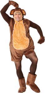 Affenkostüm, kurzer Overall Affe, Größe:L/XL
