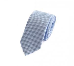 Schlips Krawatte Krawatten Binder 6cm hellblau weiß kariert Fabio Farini